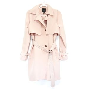 Forever 21 Blush Pink Belted Trench Coat